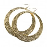 Embossed Hoop Earrings Ł5.00, 6,95_