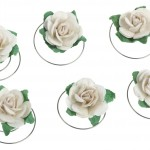 Cream flower spinners