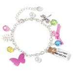 Glitter in Bottle Charm Bracelet