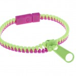 Green and Pink Zip Bracelet