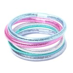 Pink and Blue Glitter Bangles