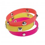 Pink and yellow spiked jelly bands