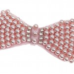 pearl embellished pink bow