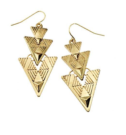 Kolczyki geometric to wielkie wariacje na temat rombów i trójkątów