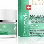 Eveline Cosmetics Maseczka Oczyszczająco - Wygładzająca Zielona Glinka Facemed+