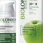 Krem regenerujący do twarzy na noc 30+ z serii Biolonica Apple Stem Cells 30+